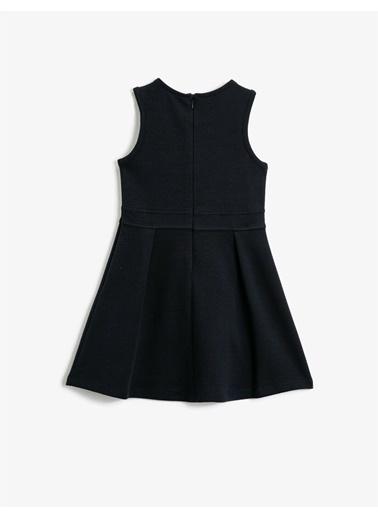 Koton Kolsuz Bebe Yaka A Kesim Elbise Lacivert